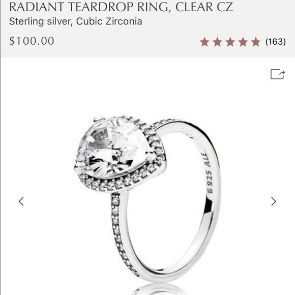 99a542534 Pandora Jewelry | Like Radiant Teardrop Ring Sz 547 | Poshmark